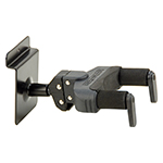 AUTO GRIP SYSTEM (AGS) GUITAR HANGER, SLAT WALL MOUNT, SHORT ARM