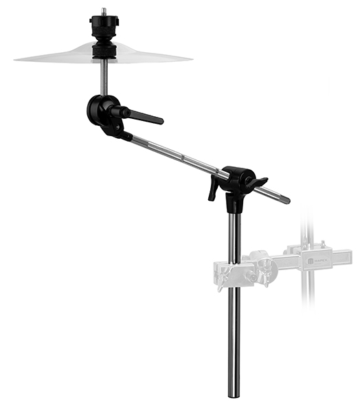 Armory 800 Series Boom Arm Chrome & Black Plated with Quick Release Cymbal Lock Tube 3/4