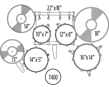 SPECIAL EDITION STORM 5 PC KIT INCLUDES T400 THRONE ZILDJIAN ZBT CYMBAL PACK Configuration