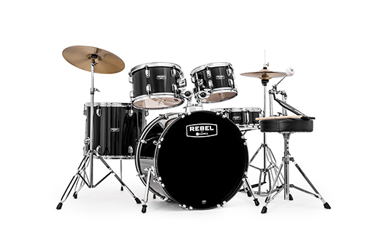 Rebel 5-Piece SRO Complete Set Up with Fast Size Toms