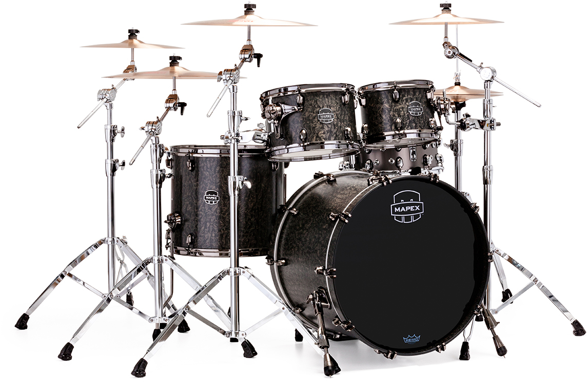Mapex Drums Drum Sets Diagram Of A Kit This Shows The Parts And Names Saturn V Exotic Rock 4 Piece Shell Pack With Soniclear Edge
