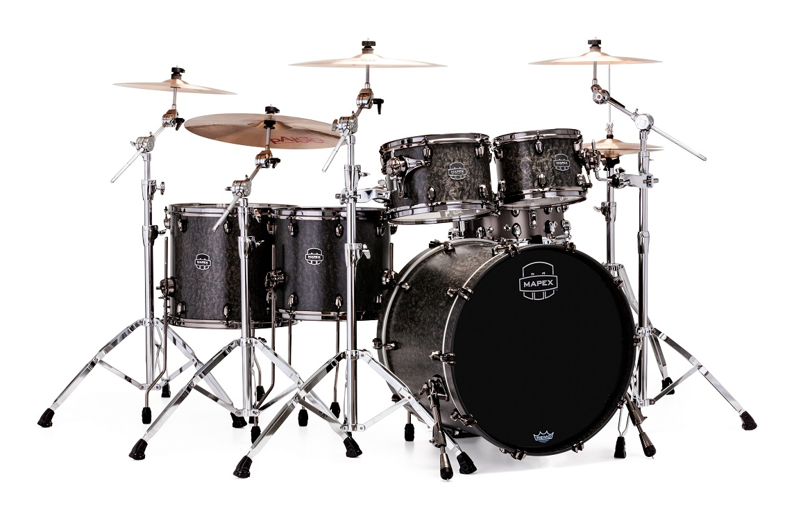 Mapex Drums Drum Sets Diagram Of A Kit This Shows The Parts And Names Saturn V Exotic Studioease 5 Piece Shell Pack With Soniclear Edge