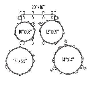 MAPEX VOYAGER JAZZ DRUM SET Configuration