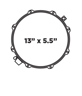 BP DESIGN LAB CHERRY BOMB 13X5.5 Snare Drum Configuration