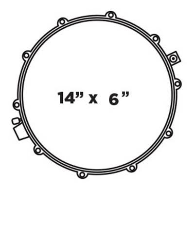 BP DESIGN LAB CHERRY BOMB 14X6 Snare Drum Configuration