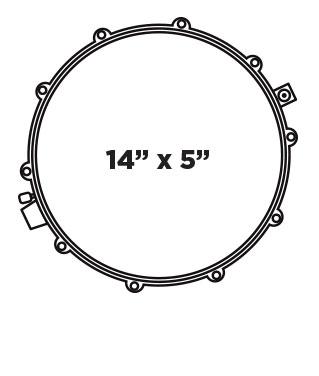 BP DESIGN LAB EQUINOX 14X5 Snare Drum Configuration