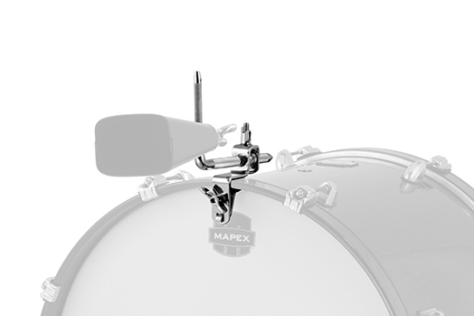 COWBELL ACCESSORY HOLDER FOR BASS DRUM