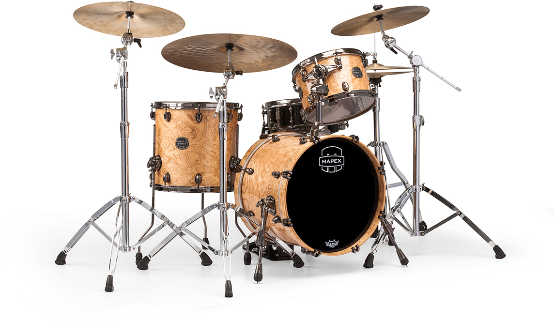 MAPEX SATURN V EXOTIC CLUB 3-PIECE SHELL PACK WITH SONICLEAR EDGE