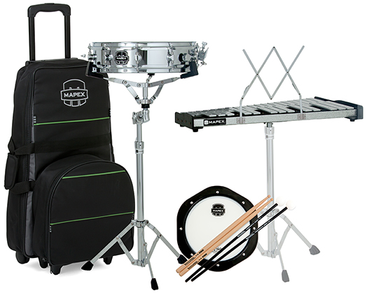 BACKPACK SNARE DRUM/PERCUISSION KIT, ROLLING BAG