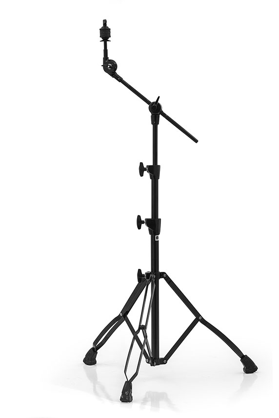 Mars Double Braced Medium Weight 2-Tier Boom w/ Ratchet Tilter - Black Plated