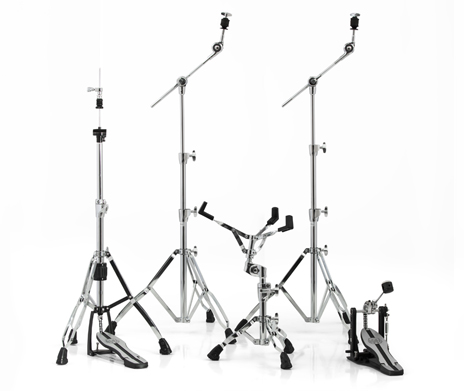Mars 600 Chrome Hardware Pack w/ Two Booms, Snare Stand, Hi-Hat Stand and Single Pedal