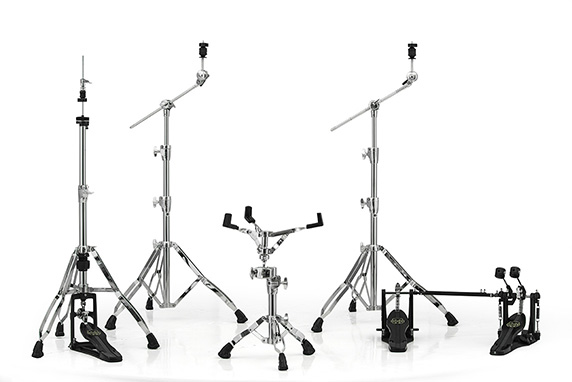Armory 800 Chrome Hardware Pack w/ Two Booms, Snare Stand, Hi-Hat Stand and Double Pedal