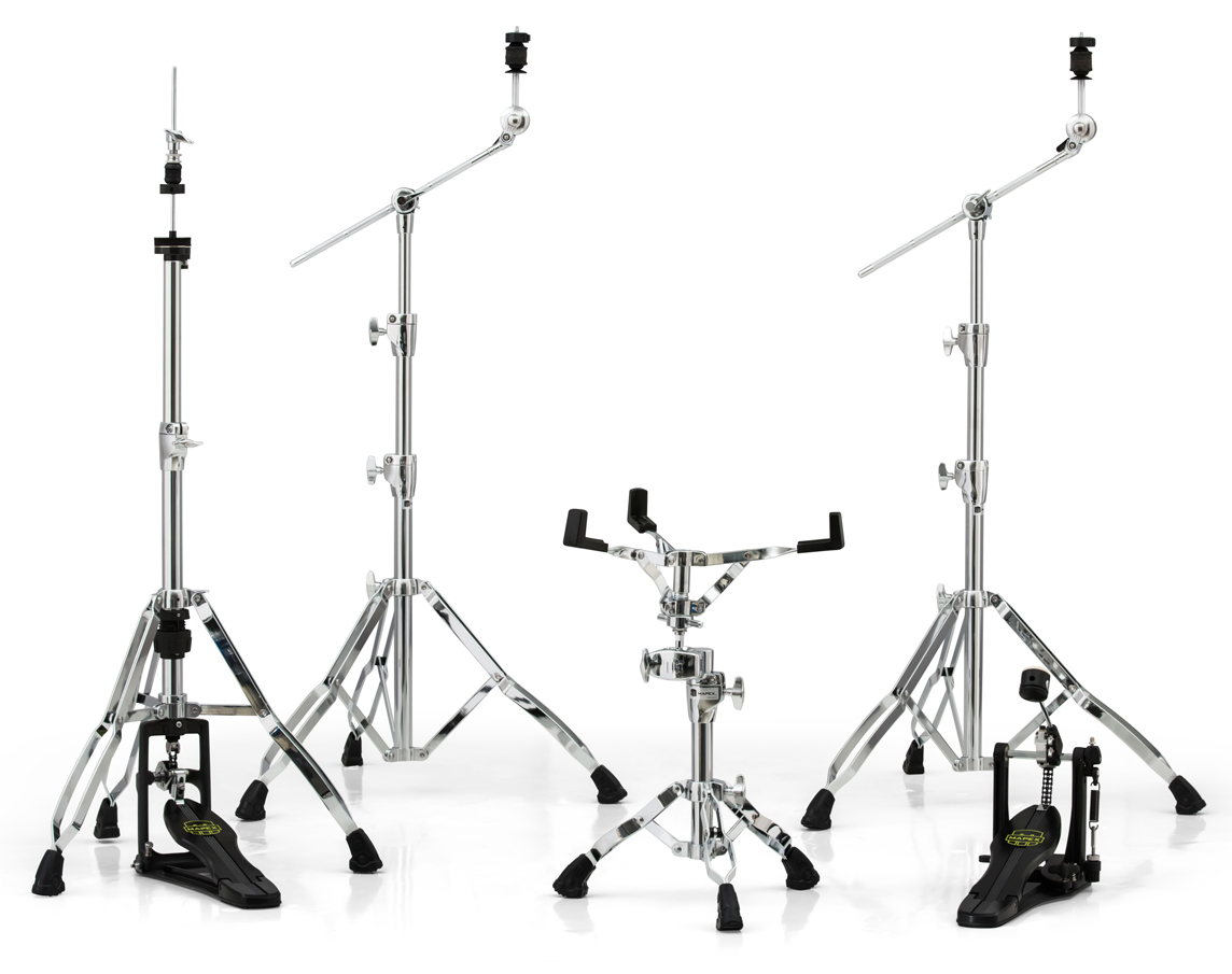 Armory 800 Chrome Hardware Pack w/ Two Booms, Snare Stand, Hi-Hat Stand and Single Pedal