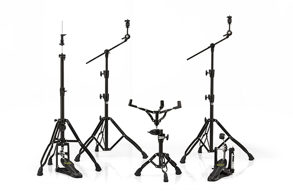 Armory 800 Black Plated Hardware Pack w/ Two Booms, Snare Stand, Hi-Hat Stand and Single Pedal