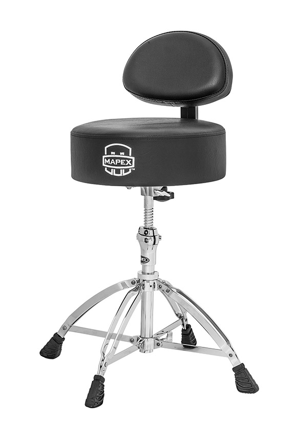 ROUND TOP DRUM THRONE W/BACK REST AND 4 LEGS