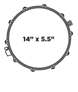 ARMORY SERIES TOMAHAWK SNARE DRUM Configuration